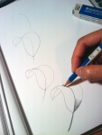 refine lines and shade